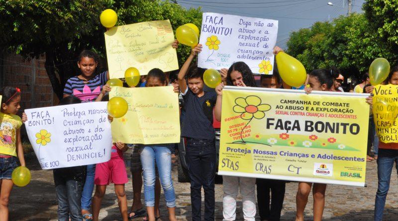 Faça Bonito – Dia Nacional de Combate ao Abuso e Exploração Sexual Contra Crianças e Adolescentes em Quixelô