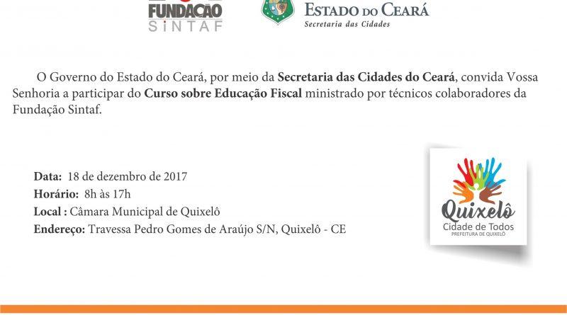 Prefeitura e Governo do Ceará oferecem o Curso sobre Educação Fiscal