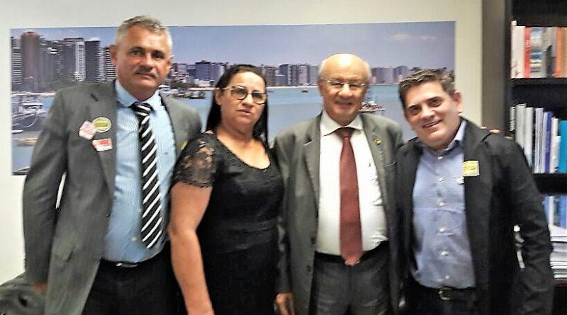 MAIS RECURSOS: Fátima Gomes viaja à Brasília acompanhada do vice prefeito, Jackson Melo, e do secretário da Saúde, Rílson Andrade