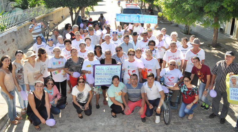 Passeata de combate à violência contra a Pessoa Idosa acontece em Quixelô