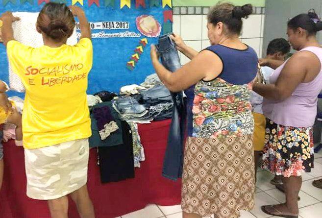NEJA realiza doação para famílias carentes
