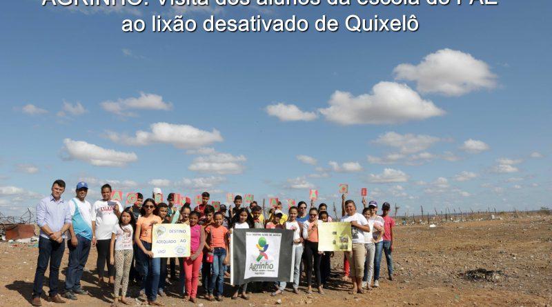AGRINHO: Estudantes visitam o lixão desativado de Quixelô