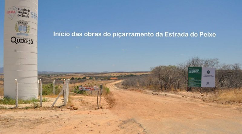 Iniciadas as obras da Estrada do Peixe