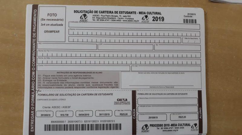 Estão abertas as inscrições para a confecção da CARTEIRA DE ESTUDANTE – MEIA CULTURAL