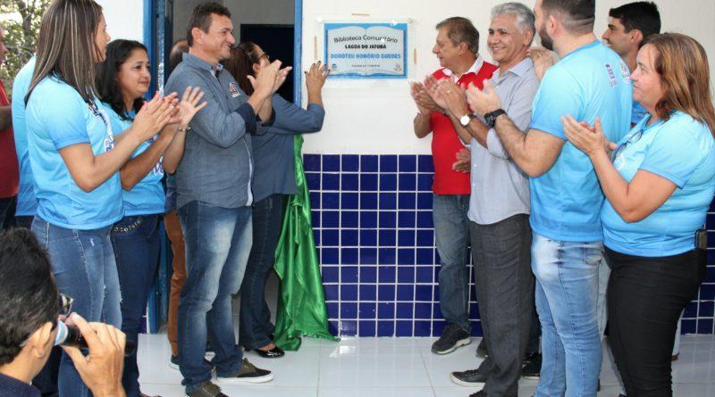 Prefeitura Perto de Você presta serviços e entrega 3 importantes obras para a comunidade da Lagoa do Jatobá